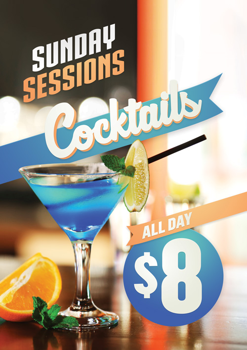 Sunday Cocktail Special $8 All Day